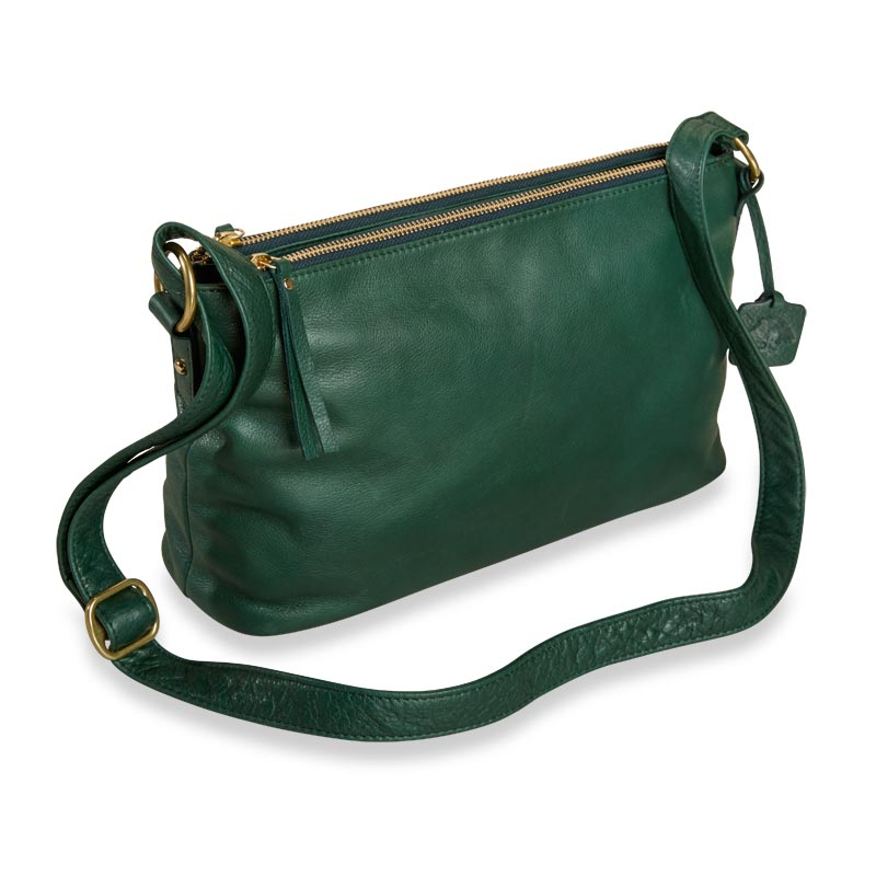 Alexa Double-Zip Handbag - Pine