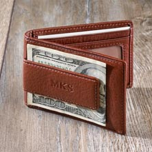 Privacy Billfold Wallet with Magnetic Money Clip - Brandy