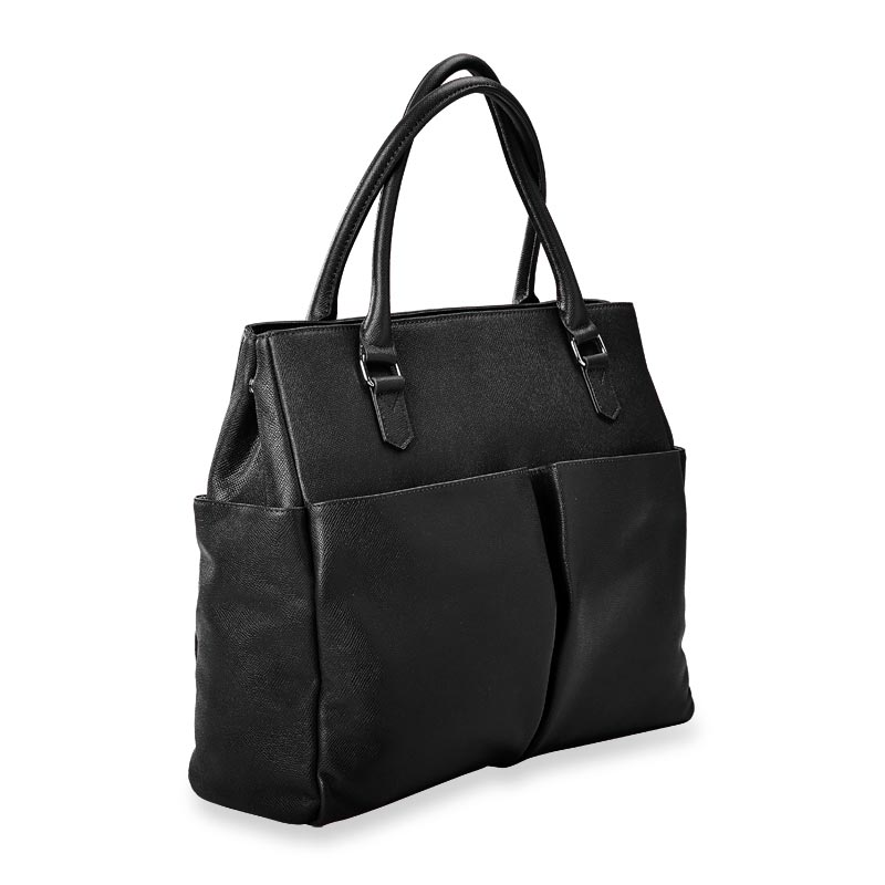 Charlotte Tote, Leather - Black