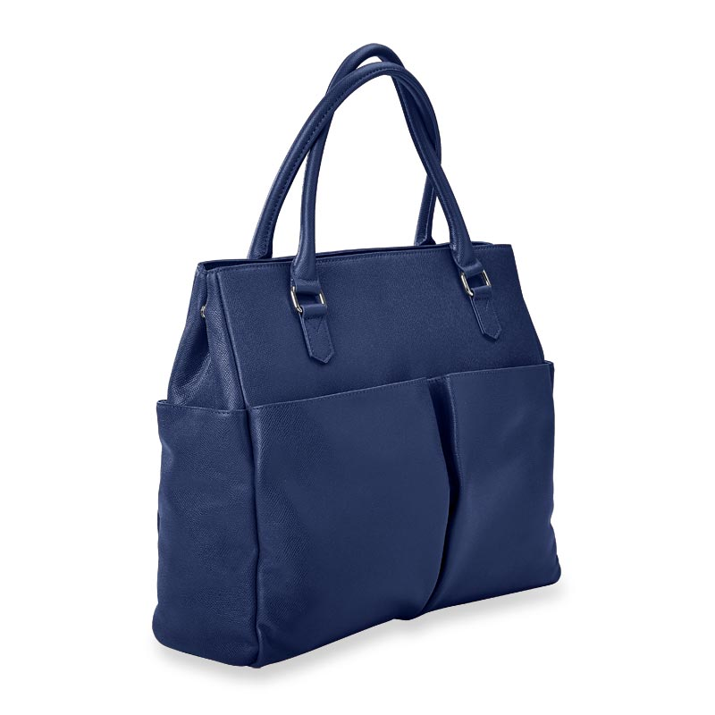 Charlotte Tote, Leather - Navy
