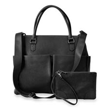 Charlotte Tote and Pouch, Leather