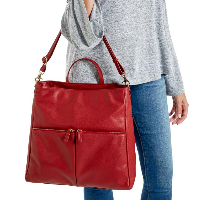 Charlotte Convertible Backpack - Ruby