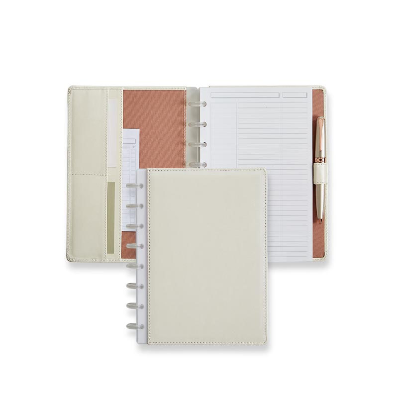 Circa® Pearl White Foldover Notebook - Junior