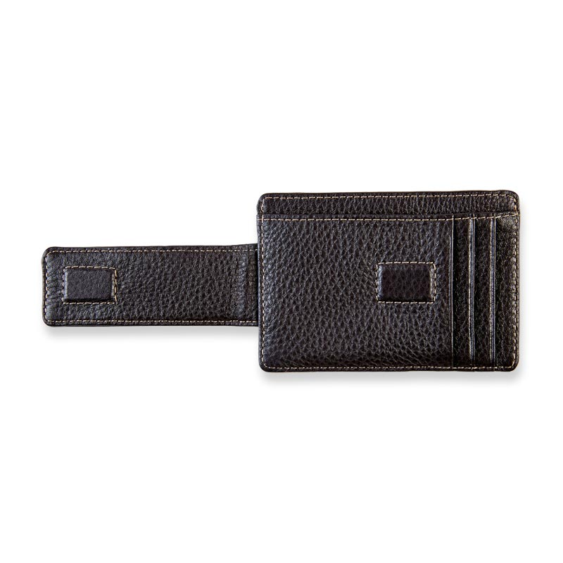 Bomber Jacket RFID Card Wallet with Money Clip