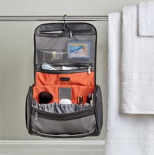 Leather Hanging Toiletry Organizer