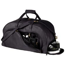 Leather Organizer Duffel with Shoe Compartment