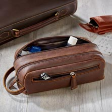 Distressed Leather Travel Kit