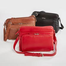 Sutton Leather RFID Crossbody Organizer