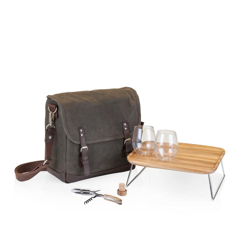 Adventure Canvas Wine Tote and Backpack