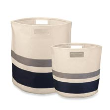 Circular Striped Storage Bin Set