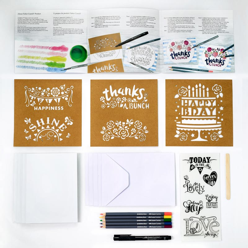 Faber-Castell 20-Minute Studio Card Making Set