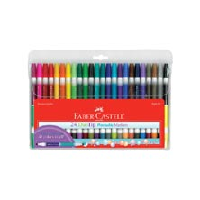 Faber-Castell® DuoTip Washable Markers, 24-Pk