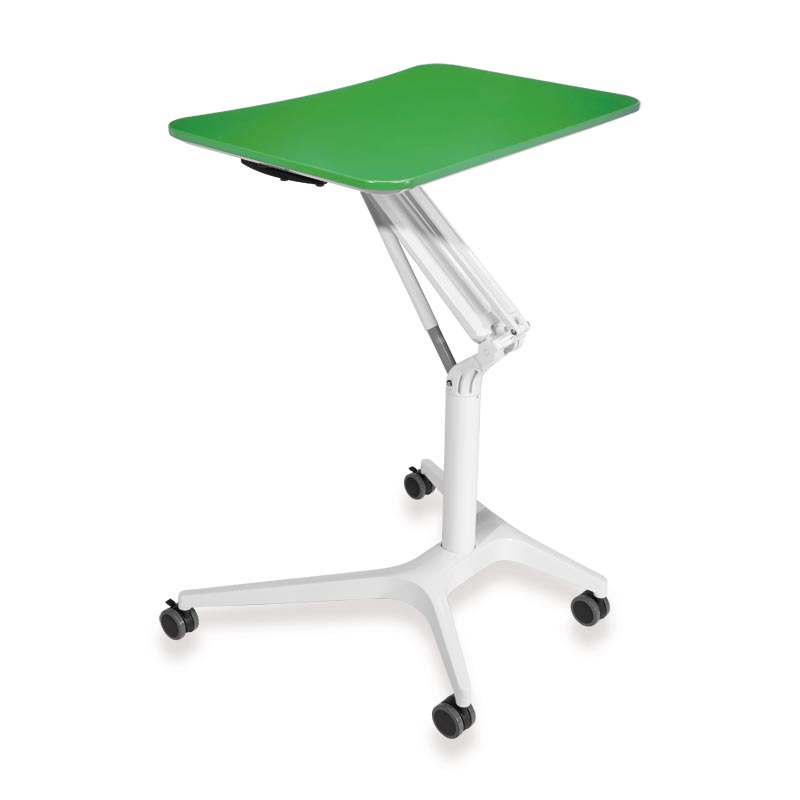 Sit-to-Stand Rolling Workstation 2.0 - Top Green Base White