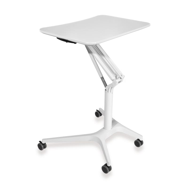 Sit-to-Stand Rolling Workstation 2.0 - Top White Base White