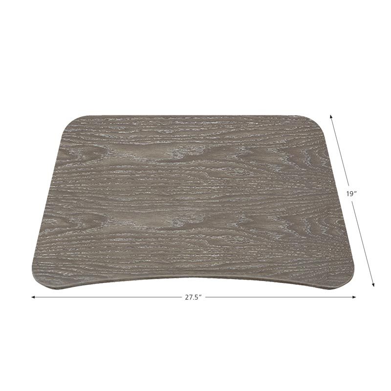 Sit-to-Stand Rolling Workstation 2.0 - Top Grey Base Black