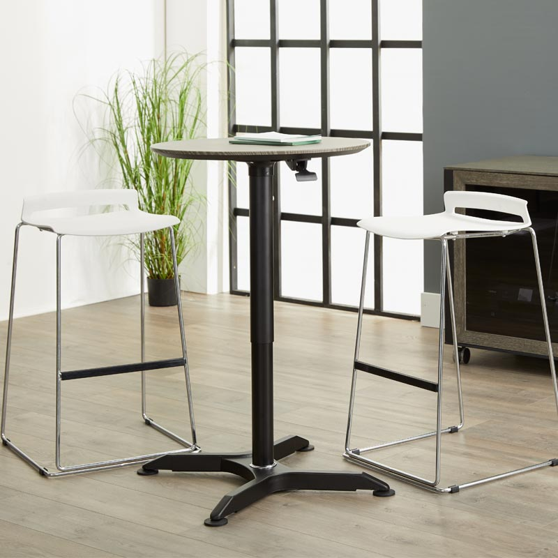Adjustable Sit-to-Stand Side Table