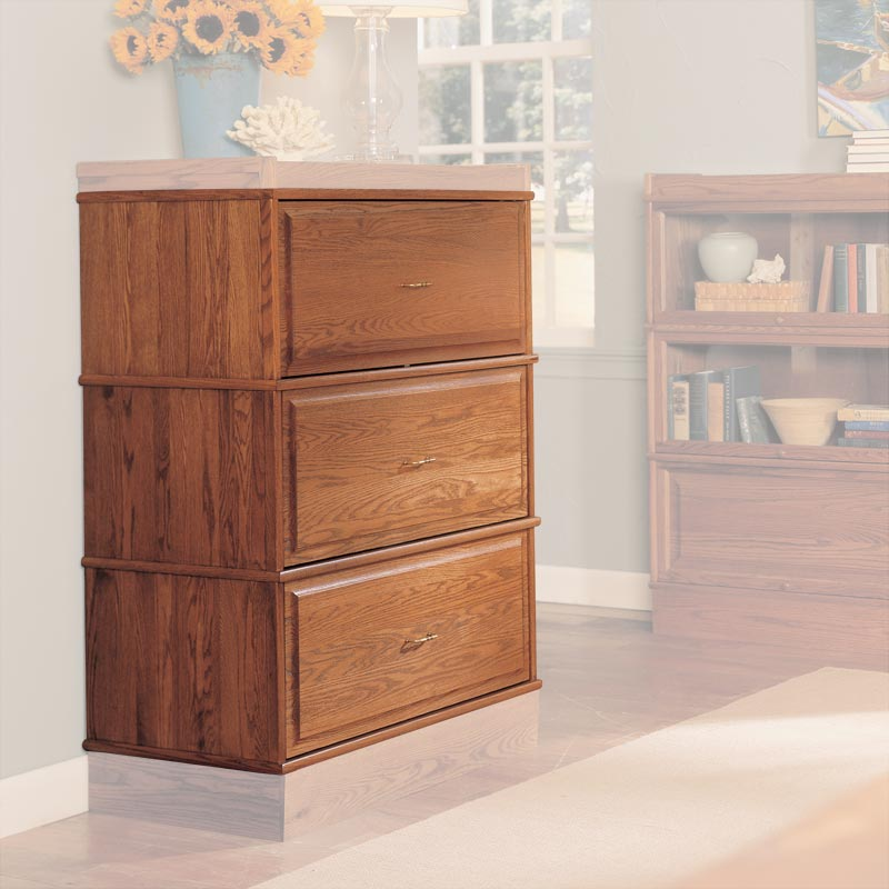 Barrister Lateral File Drawer Stack - Natural Cherry