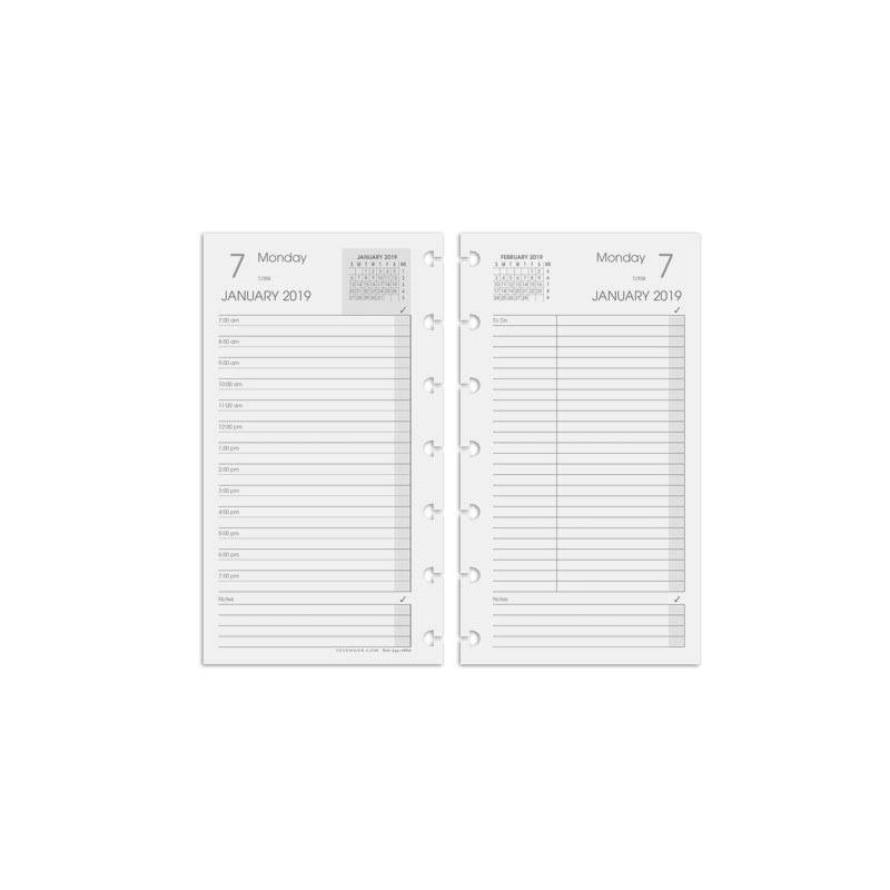 picture about Daily Agenda named Circa® Each day Plan Refill