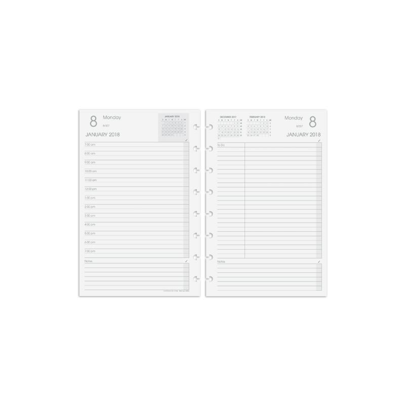Circa Daily Planner Refill 2018, Junior