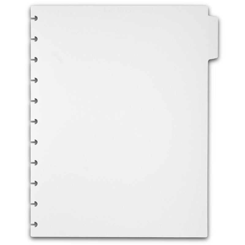 Circa Plastic Tab Dividers White Notebook Dividers Notebook - Divider tabs template
