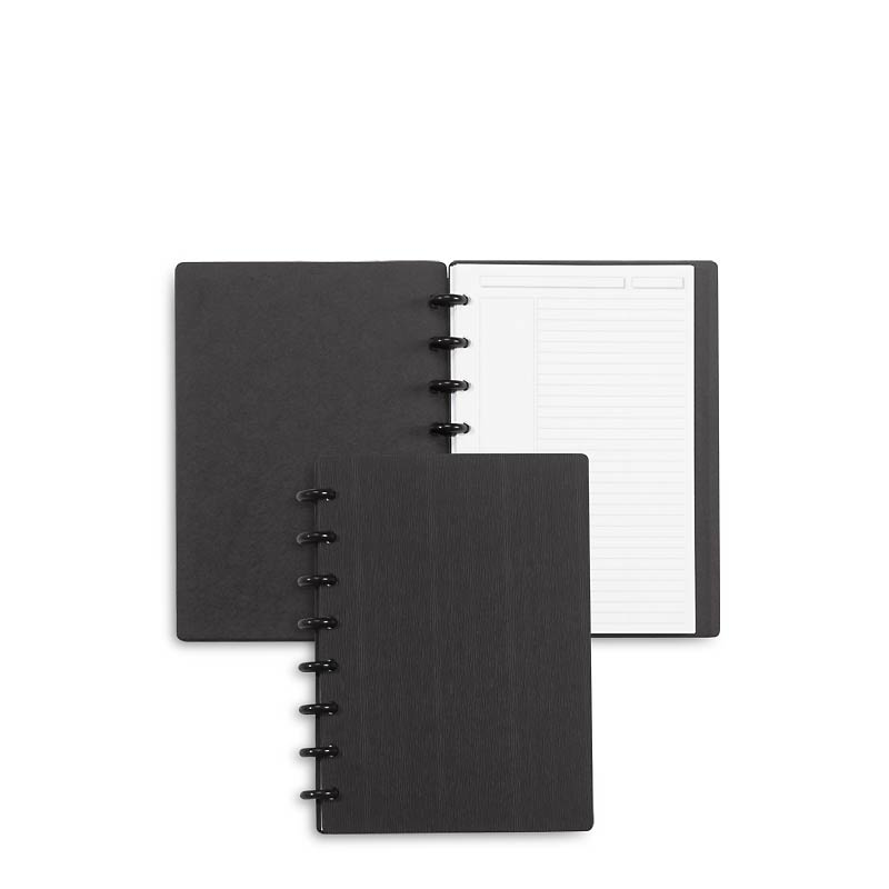 Circa Sliver Foldover Notebook, Black Junior