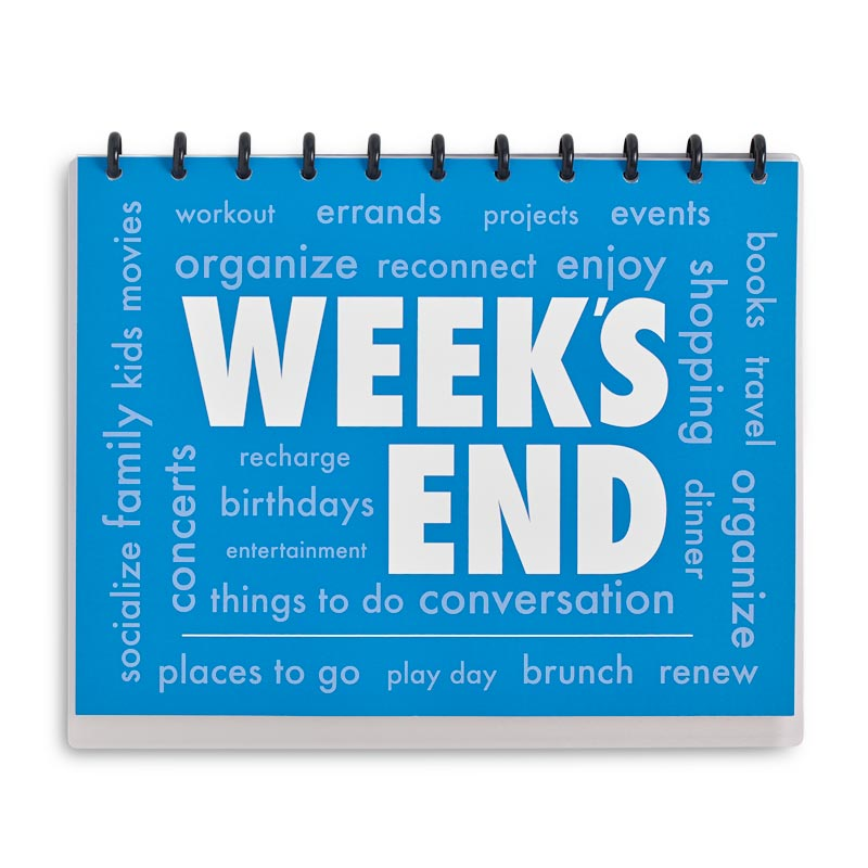 Circa Week's End Notebook, Horizontal Letter
