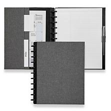 Circa Bookcloth Foldover Notebook, Gray, Letter