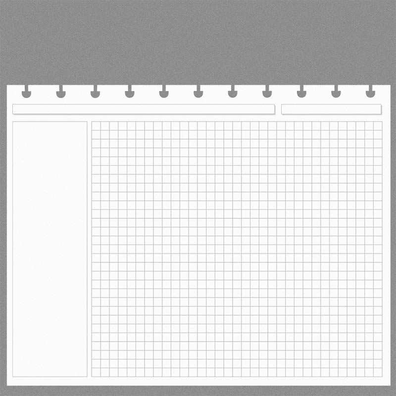 Special Request™ Circa Horizontal Annotation Grid Refill, Letter