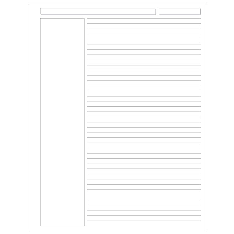 Special Request™  Annotation Ruled (100 sheets), Unpunched, Letter