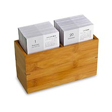 Nantucket Note Card Box w/ Calendar Card