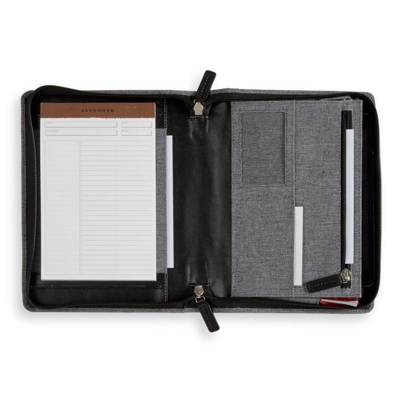 Bookcloth Zip Folio - Junior