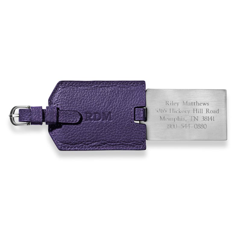 VIP Personalized Luggage Tag, Purple