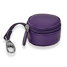 Zip-N-Store Earbud Holder - Purple