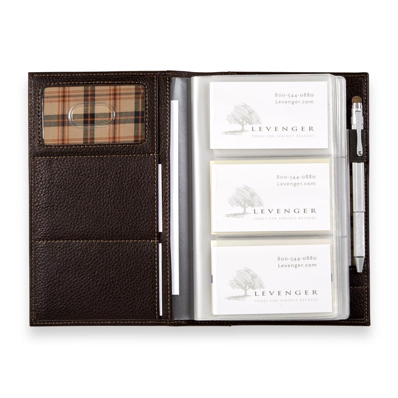 Bomber Jacket Business Card Organizer