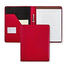 Stealth Circa Leather Foldover Notebook - Red
