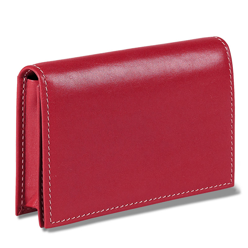 Card wallet business card holder leather card holder card case card wallet red colourmoves