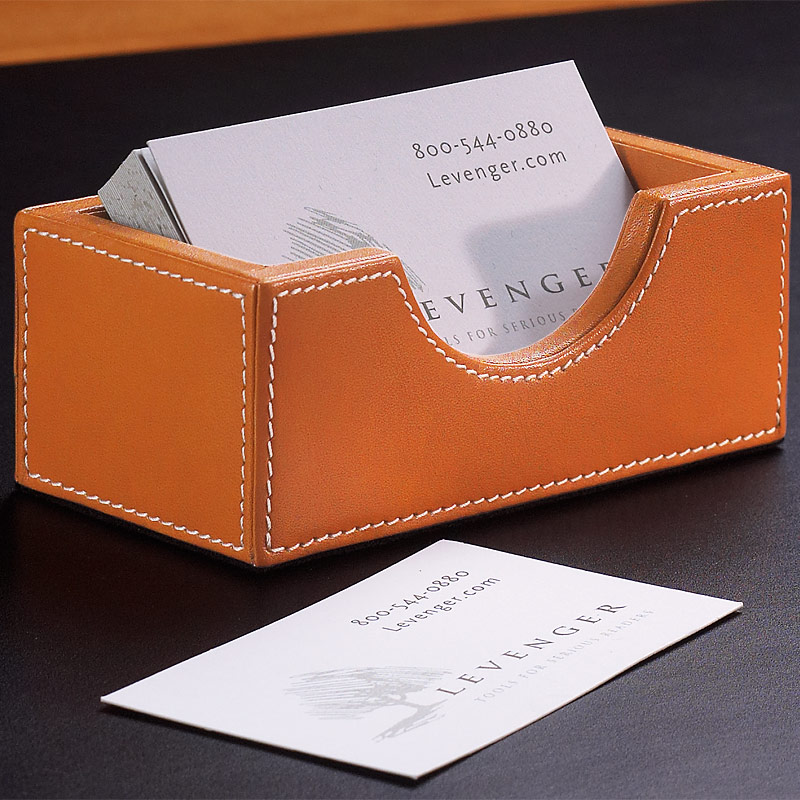 Morgan Business Card Holder - Leather Business Card Holder - Levenger