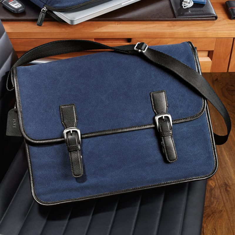 Commuter Laptop Messenger Dark Blue