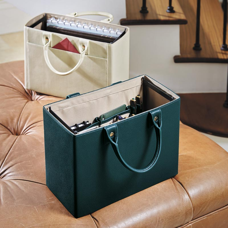 LevTex™ Pebbled Portable File Tote with Pockets