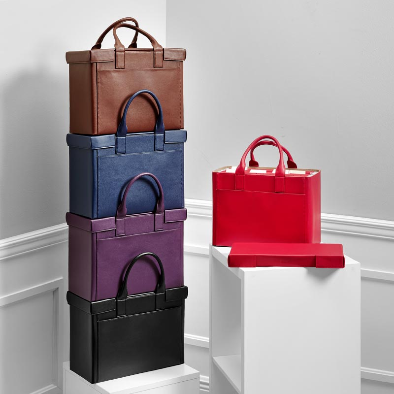 LevTex™ Covered Portable File Tote Ensemble
