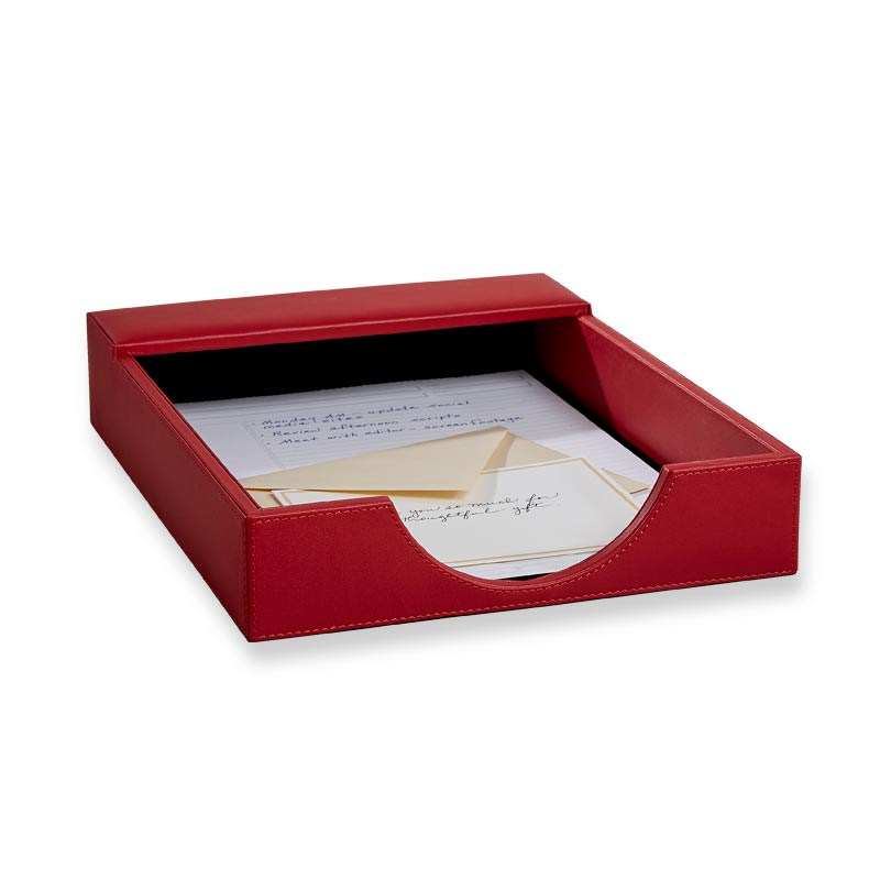 Dyana Letter Tray, Red