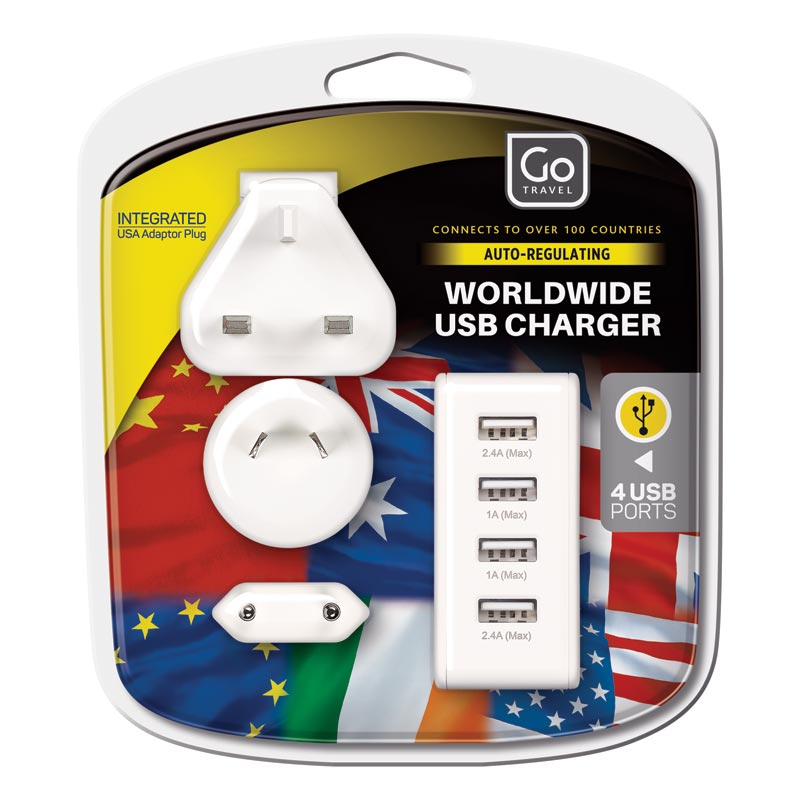 Worldwide 4 Port USB Charger