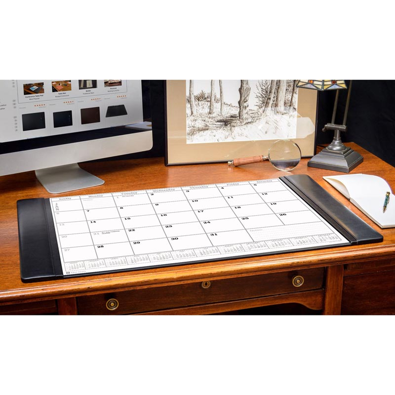 Leather Desk Pad with 2021 Calendar