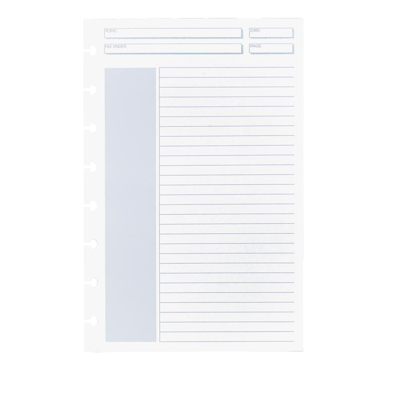 100 Circa® Shaded Annotation Ruled Double Header Refill Sheets