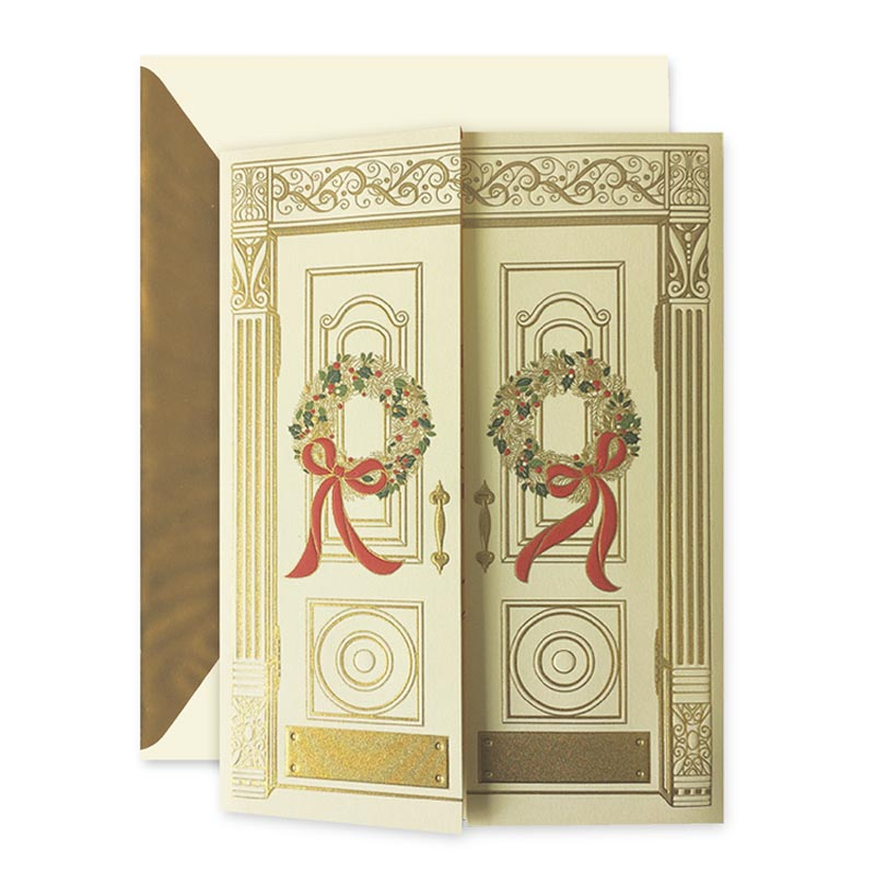 Crane Engraved Holiday Entrance Card