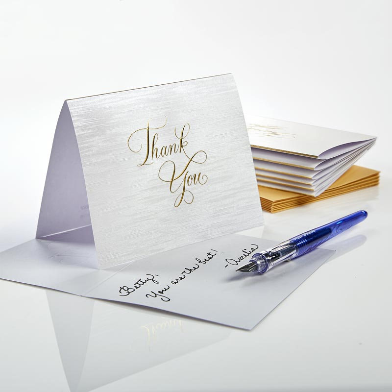 Calligraphy Thank You Cards. Set/8.