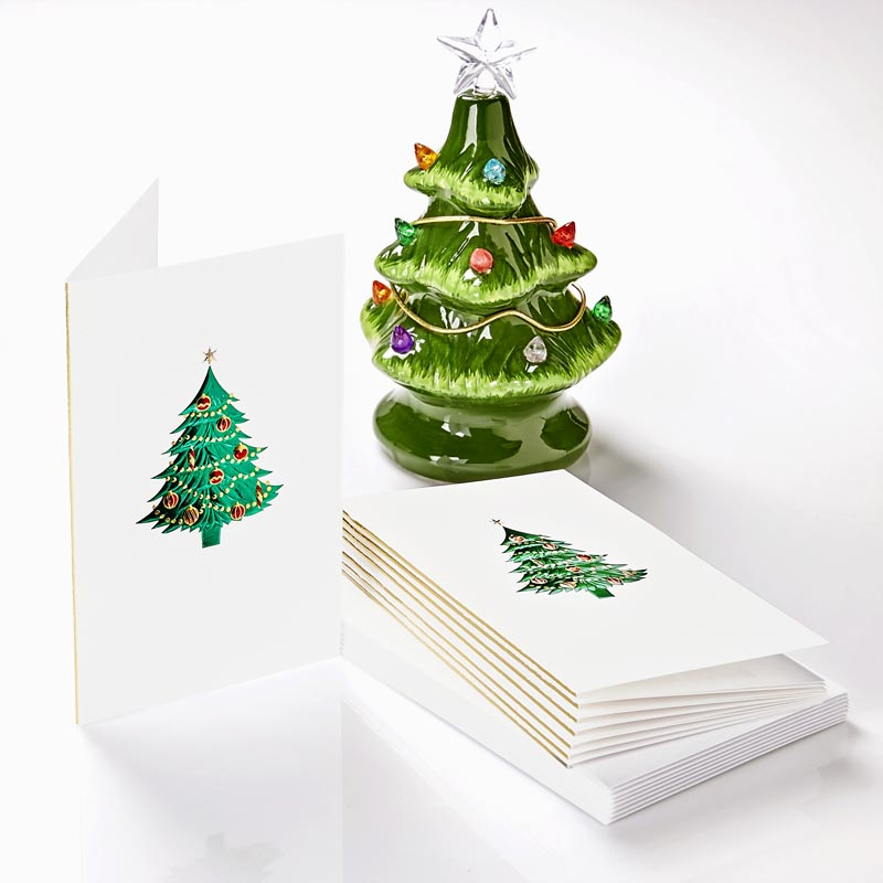 Tree with Ornaments Mini Note