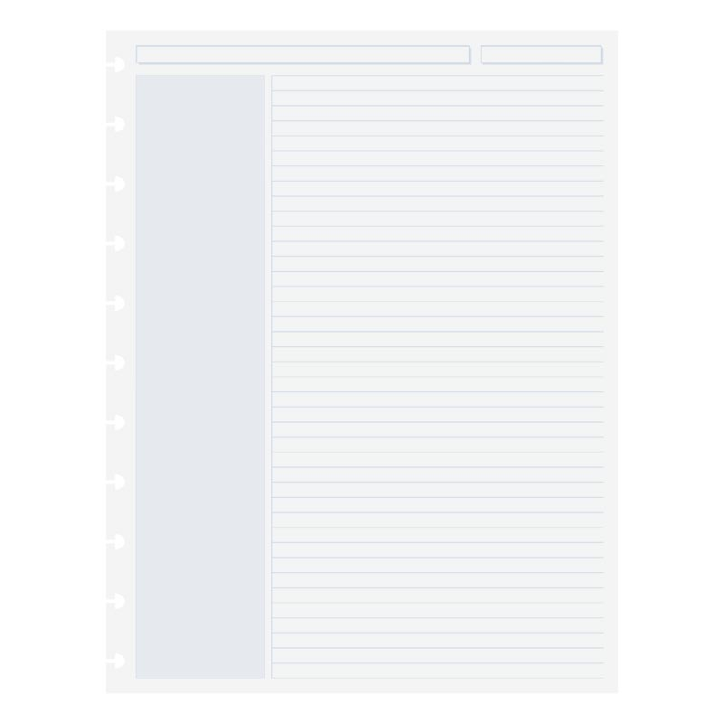 100 Circa® Shaded Annotation Ruled Sheets