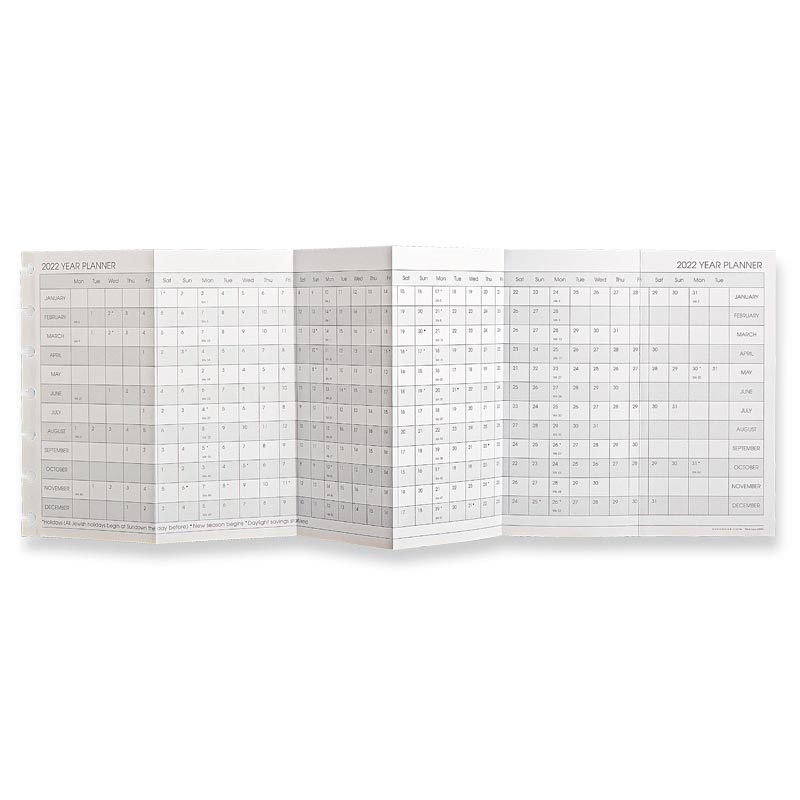 Circa® 2022 Monthly Tabs and Pullout Calendar, Compact