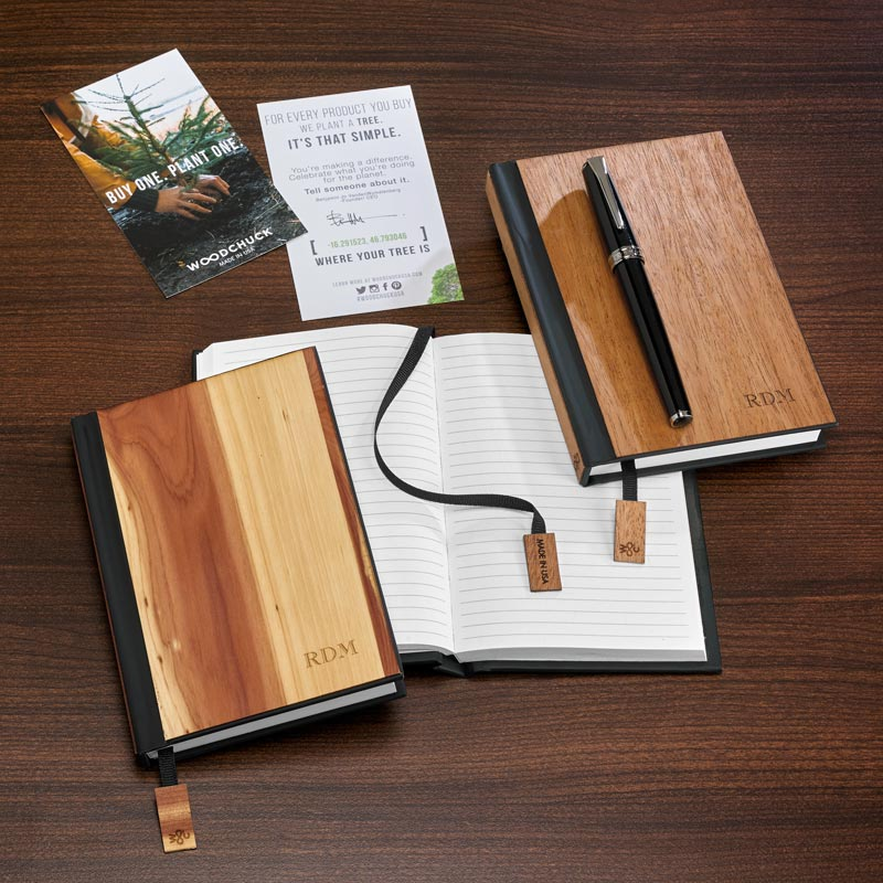 Real Wood Pocket Journal - Cedar